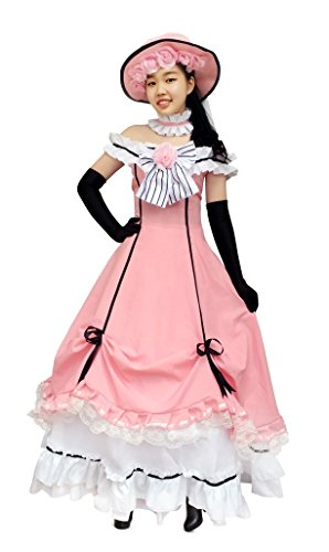 DAZCOS Black Butler Costume Kuroshitsuji Ciel Full Set Cosplay Dress Costume (Women L)