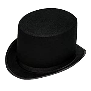 Black Felt Top Hat - Gentleman's Felt 5 Inch Top Hat