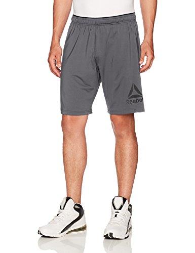Reebok Men's Stretch Knit Shorts, Alloy, Medium