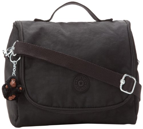 "Kipling Kichirou Insulated Lunch Bag, Black, 9""L X 8""H X 5""D"