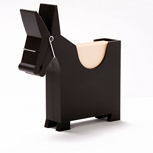 Morris the Donkey - Desktop Note Pad, Note Dispenser and Pen Holder, for Memo, Notes, Bock of 140 Blanks, Black/Red/White. by Monkey Business (Image #1)