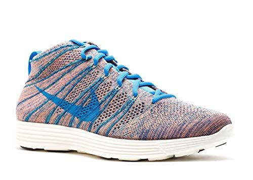 Nike Men's Lunar Flyknit Chukka Brv Bl/Pht Bl/Mnrl Tl/Grn Glw Lifestyle Shoe 9.5 Men US