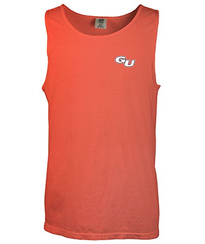 NCAA Gonzaga Bulldogs Simple Aztec Comfort Color Tank Top, Large,BrightSalmon ()