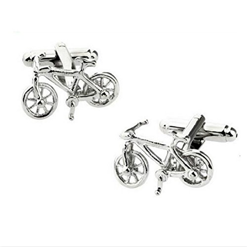 JUNGEN Gemelos de Bicicleta de Moda Para Hombres Cufflinks de Aleaci/ón Gemelos De Estilo Vintage Para Camisa del Negocio