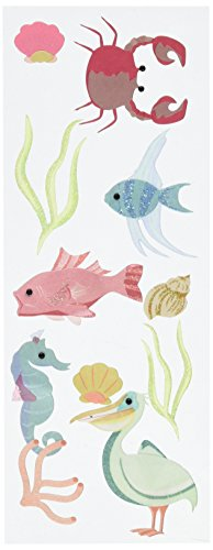 A Touch Of Jolee's A Day At The Beach Dimensional Stickers, Sealife South