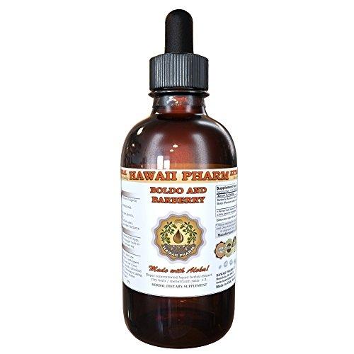 Boldo and Barberry Liquid Extract, Boldo (Peumus boldus) and Organic Barberry (Berberis vulgaris) Tincture Supplement 4 oz
