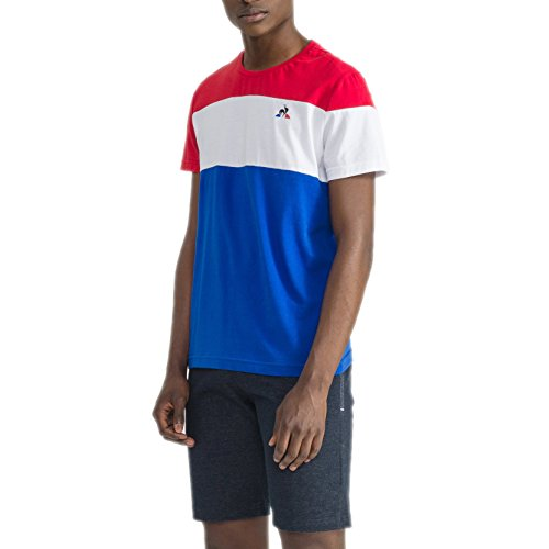 le_coq_sportif T-Shirt Tri SS Nº1 Rosso/Bianco/Blu Formato: XS (X-Small)