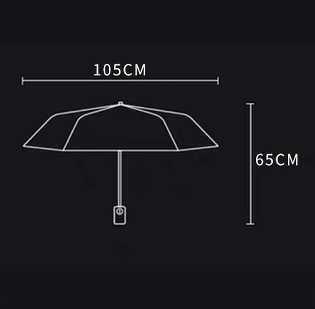 HongTeng Automatic Umbrella Tri Fold Windproof Reinforcement Rainy Day Sunny Dual Use Business Gifts 41.3x25.6in
