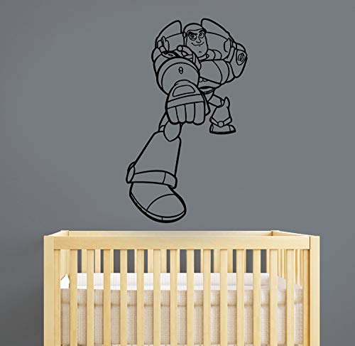 (Toy Story Decal Buzz Lightyear Vinyl Sticker Disney Wall Vinyl Art Best Decorations for Home Kids Boys Room Playroom Bedroom Movie Decor Made in USA Fast)