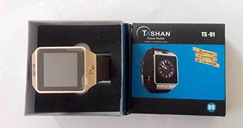 fc417b33a2c Tashan TS-91 (U9) Bluetooth Smart Wrist Watch Phone with Camera   SIM Card  Support-Gold  Amazon.in  Computers   Accessories