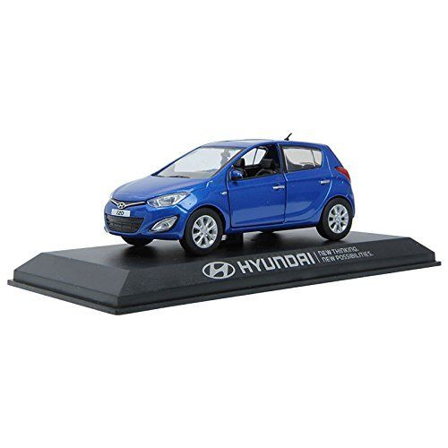 PINO B&D HYUNDAI i20 1:38 Diecast Miniature Display case BLUE Color