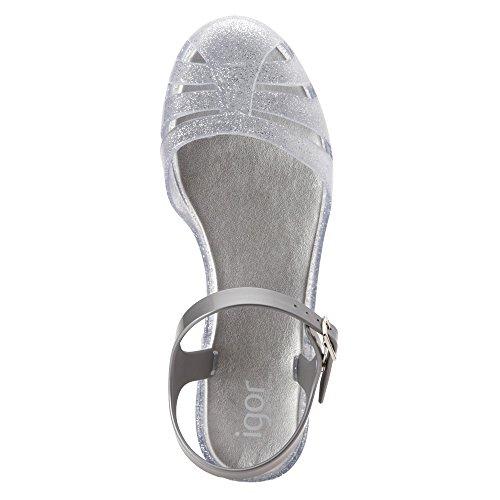 Igor Mara Glitter S10144 Girl's Silver Mini Sandal SSn1raxqw6