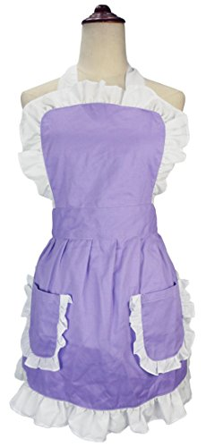 purple cooking aprons for women - 9