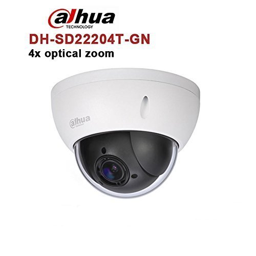 Dahua PTZ IP Camera,SD22204T-GN 2MP PoE Dome Camera 4x Optical Zoom ONVIF WDR Network Security Camera 2.7mm~11mm Lens English Version