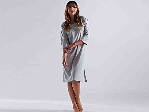 Coyuchi Organic Cotton Classic Jersey Nightgown - Medium Pewter
