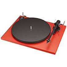 PRO JECT Essential II Phono USB Turntable With Ortofon OM 5E Cartridge (Red)