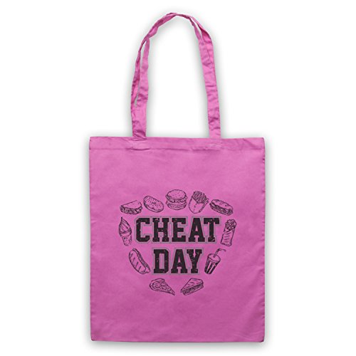 Slogan Sac Rose Cheat Day d'emballage Bodybuilding Workout RqnIptv