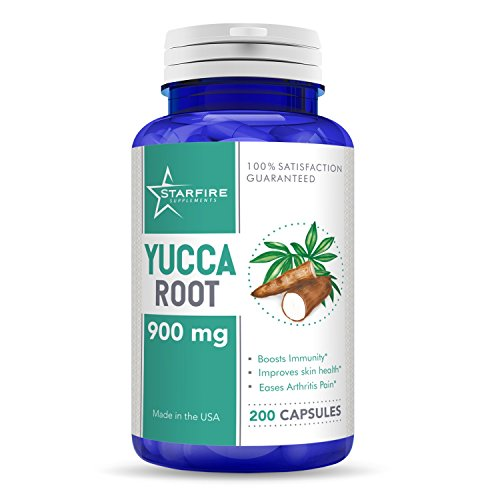 Root Powder Yucca (Starfire Supplements Yucca Root 900mg 200 Capsules)
