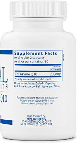 Vital Nutrients - CoEnzyme Q10 100 mg - Potent Antioxidant and Free Radical Scavenger - 60 Capsules Discount