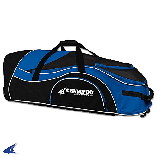 Champro Sports Catcher's Roller Bag, Royal, 36