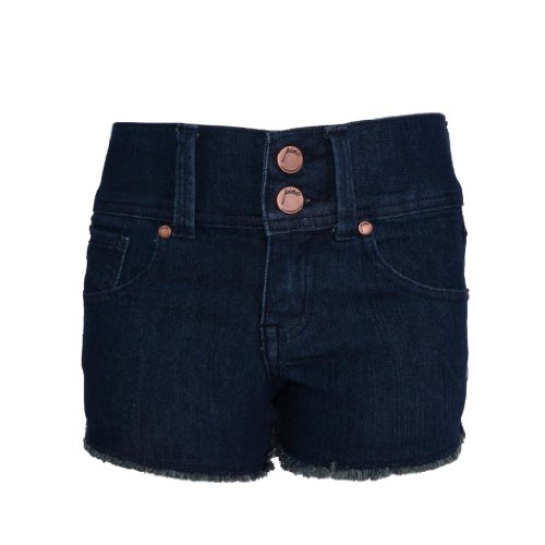 Pinc Premium Big Girls' High Waisted Short 10 Dark Wash