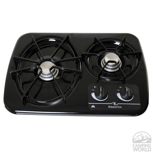 Atwood 56493 Wedgewood Two-Burner Drop-In Cook Top - Black,1 Pack (Drop In Rv Range)