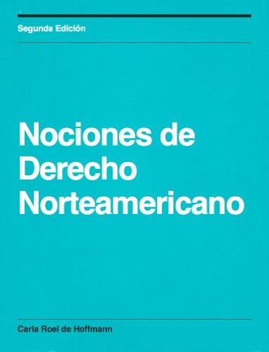 Descargar Libro Nociones De Derecho Norteamericano De Carla Roel Carla Roel De Hoffmann