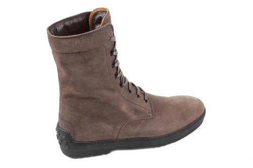 Tod's bottines demi-bottes homme en cuir winter gommino marron