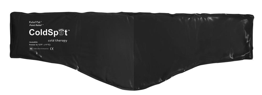 Fabrication Relief Pak ColdSpot Black Urethane Pack - neck contour - 6'' x 23'' - Case of 12 by Fabrication