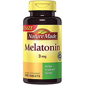 NM Melatonin 3 mg, 240 Tablets (3 Bottles)