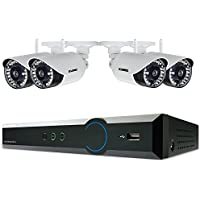 Lorex 4 Channel 720p Surveillance System with 1TB HDD and 4 HD 720p Weatherproof Cameras with 120 Night Vision