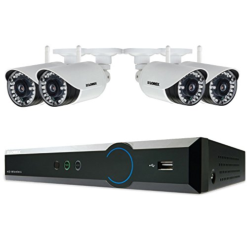 Lorex 4 Channel 720p Surveillance System with 1TB HDD and 4 HD 720p Weatherproof Cameras with 120' Night Vision by Lorex