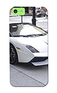 Standinmyside Brand New Defender Case For Iphone 5c (lamborghini Gallardo Lp4 Spider Performante Cabriolet Convertible Roadster Italian Dreamcar Supercar Exoticsportscar White Blanc Bianco) / Christmas's Gift