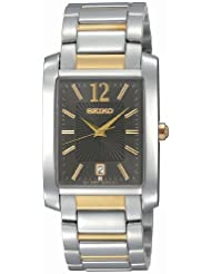 Seiko Mens SKK701 Dress Two-Tone Solid Stainless-Steel Case and Bracelet Charcoal Dial Watch