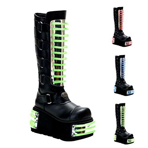 Pleaser Menns Techno-854uv Boot Svart Pu