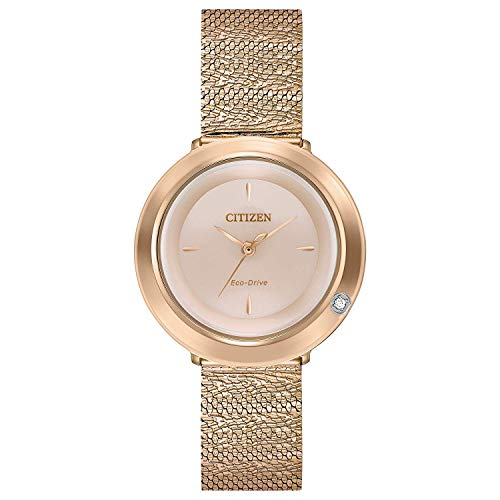 Citizen L Ambiluna Mother Of Pearl Dial Stainless Steel Ladies Watch EM0643-50X ()
