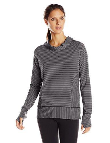 (prAna Women's Marin Pullover Top, Black Stripe, Small)
