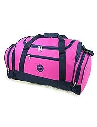 Friendz Trendz -Travel Lugagge Cargo Velcro handle binding Holdall Duffle Bag (ONE, pink)