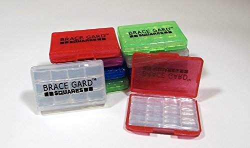 Brace Gard Squares - Dental Orthodontic Silicone Wax For Braces - Pack of 10