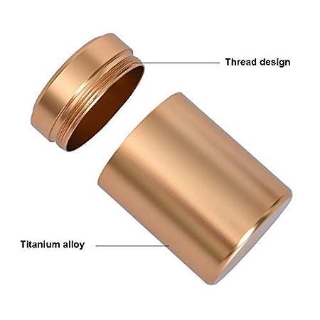 Acreny Port/átil Mini T/é Lata Aluminio Hierba Escondite Secreto Bote Sello Olor Prueba Contenedor Especias Organizador Pote del Almacenaje Oro