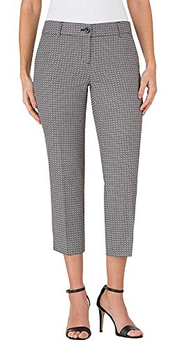Hilary Radley Women's Stretch Slim Leg Crop Pant (4, - Dress Cropped Pants