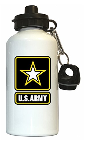 (US Army Water Bottle White)