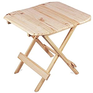 Ebee Wooden Stool Coffee Table (Beige)