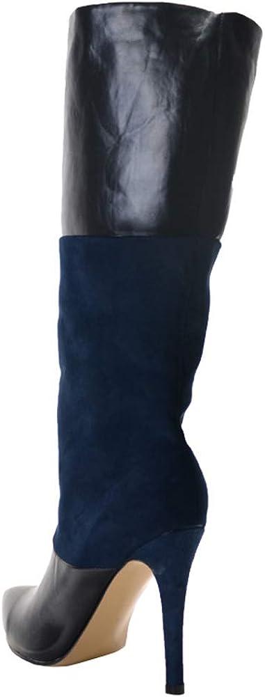 YQSHOES Bottes De Mode En Peluche, Bottes Hautes, Bottes Pour Femmes, Chaussures Chaudes Black