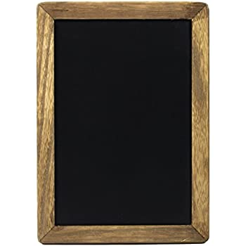 Small Rustic Hanging Chalkboard Sign with Wood Frame and Magnetic Surface for Kitchen, Menu, Wedding Decor - Compatible with Liquid Chalk Ink Markers (10 x 14 Inches)