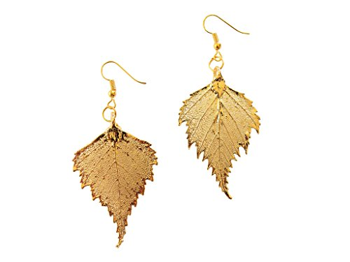 24k Gold Dipped REAL Birch Leaf, Gold Plated Leaf French ...