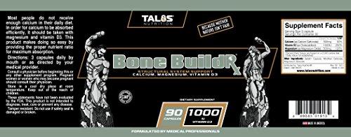Talos Nutrition Bone BuildR-Calcium/Magnesium/Vitamin D Blend (90 Capsules) by Talos Nutrition by Talos Nutrition (Image #1)