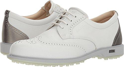 ECCO Women's Classic Hybrid Golf Shoe, White/Silver Metallic, 37 M EU (6-6.5 (Ecco Ladies Golf)