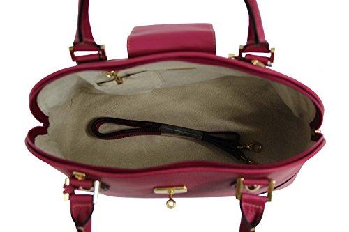 Sabatier 506 MM Borsa in pelle a grana grossa, colore: azalea