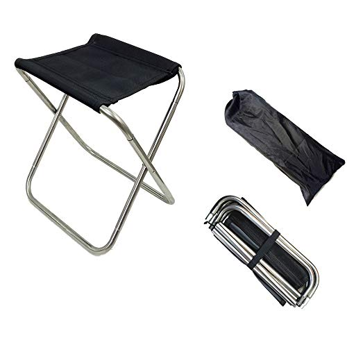 - Outdoor Mini Ultra Light Portable Folding Stool Camping Beach Hiking Garden Fishing Travel Lazy Barbecue 600D Oxford Cloth Waterproof Cloth Portable Stainless Steel (s)